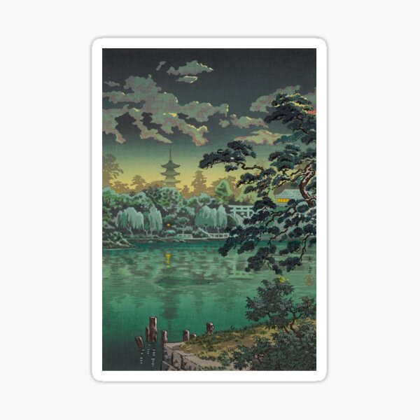 Tsuchiya Koitsu Ueno Shinobazu Pond Art Sticker