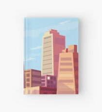 Sun rising and a city wakes up vector illustration design. Hardcover Journal