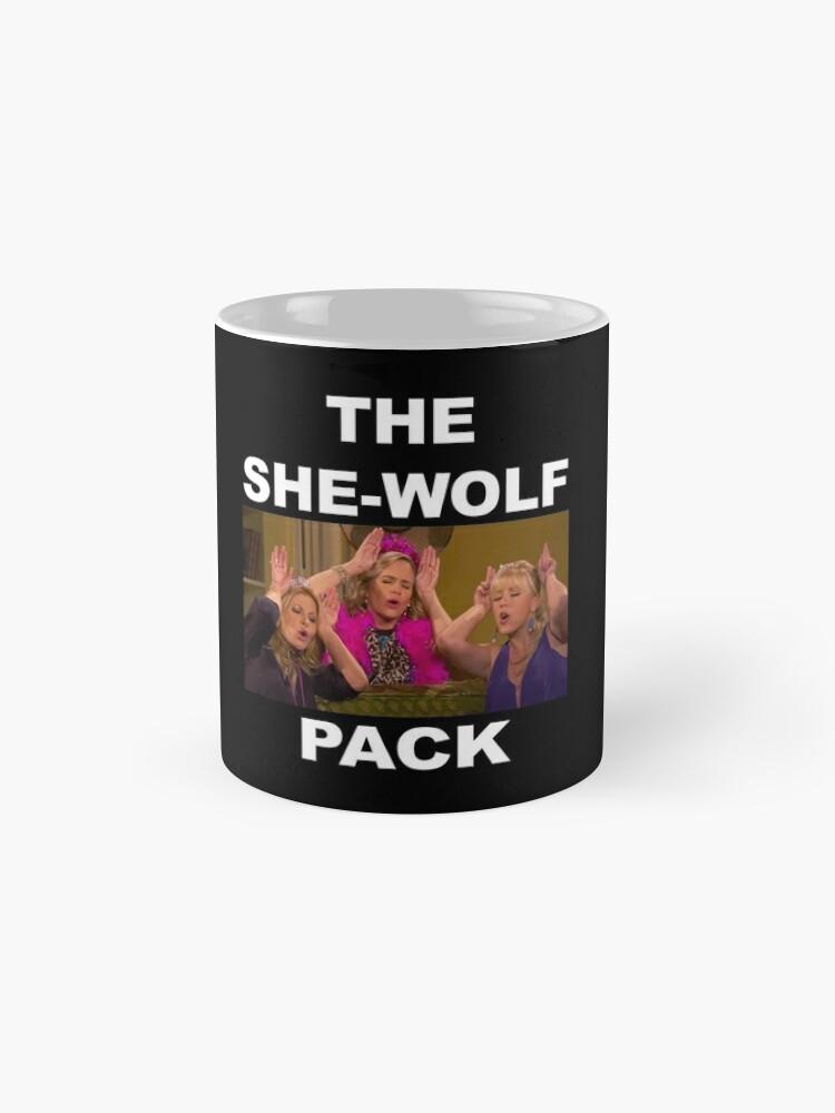 Alternative Ansicht von volleres Haus - sie Wolfsrudel Tassen
