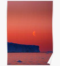 Frozen Moonrise, Antarctica Poster