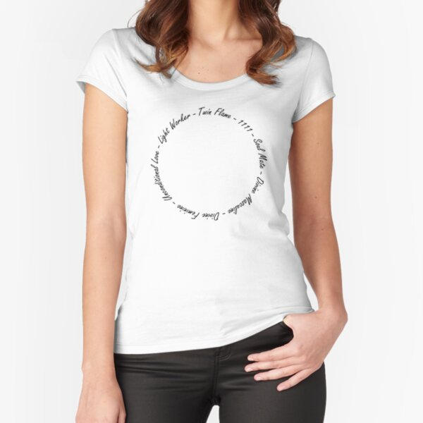 Twin Flame Circle Fitted Scoop T-Shirt