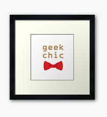 Geek Chic Framed Print