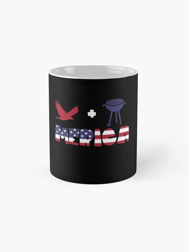 Vista alternativa de Taza Eagle plus Barbeque Merica American Flag
