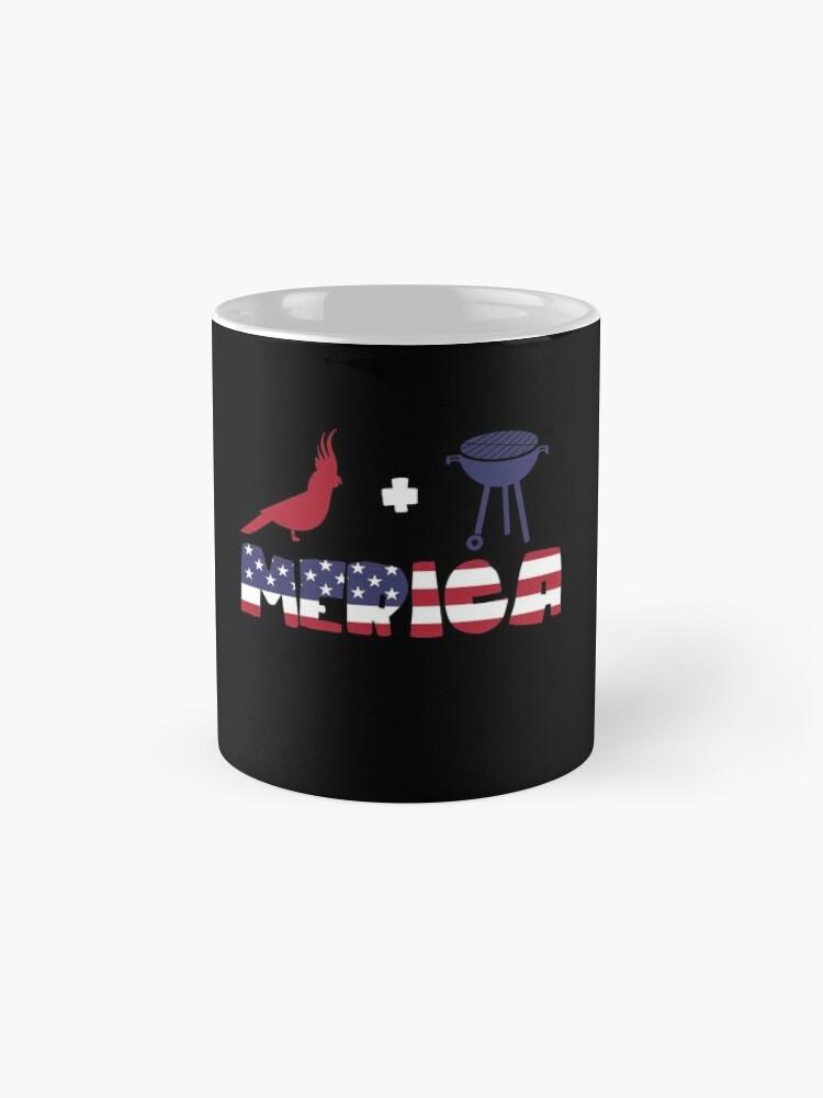 Vista alternativa de Taza Cockatoo plus Barbeque Merica American Flag