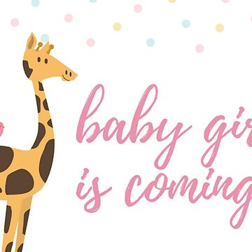 Baby Girl is Coming Greeting Announcement by critterville