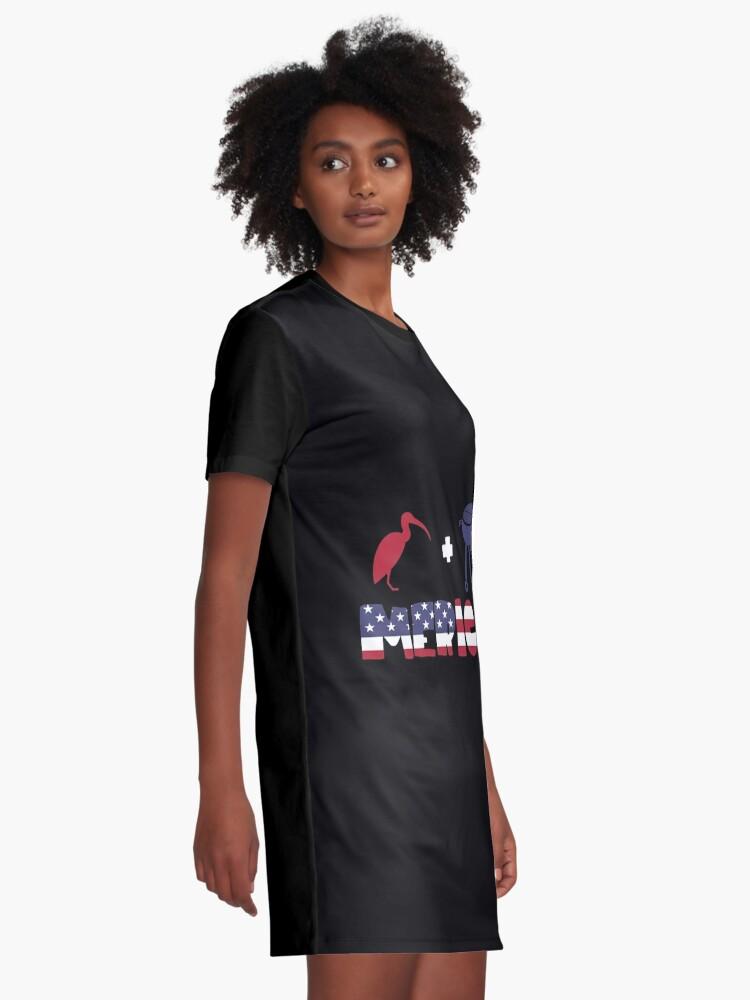 Vista alternativa de Vestido camiseta Curlew plus Barbeque Merica American Flag