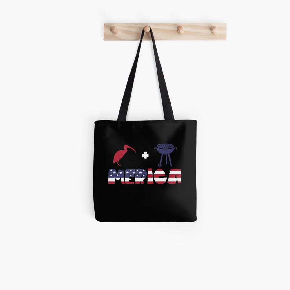 Curlew plus Barbeque Merica American Flag Bolsa de tela