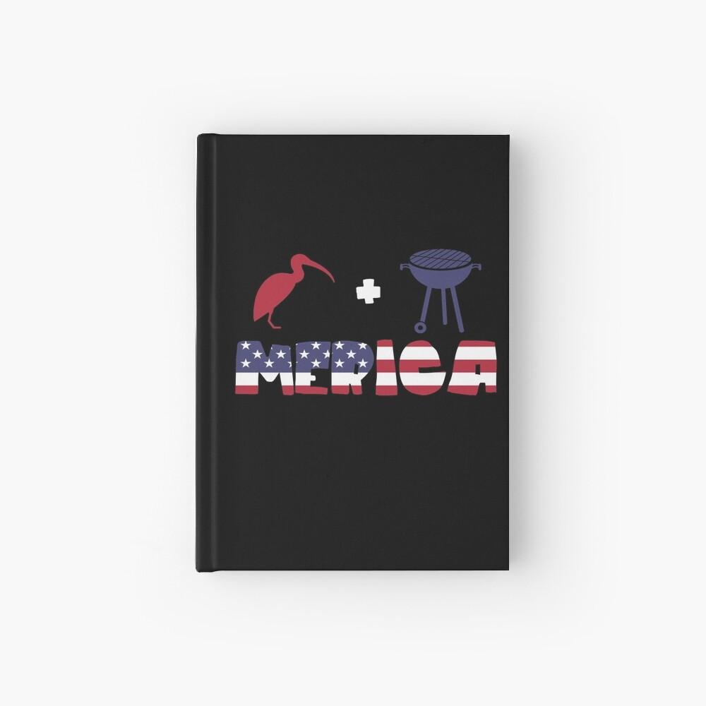 Curlew plus Barbeque Merica American Flag Cuaderno de tapa dura