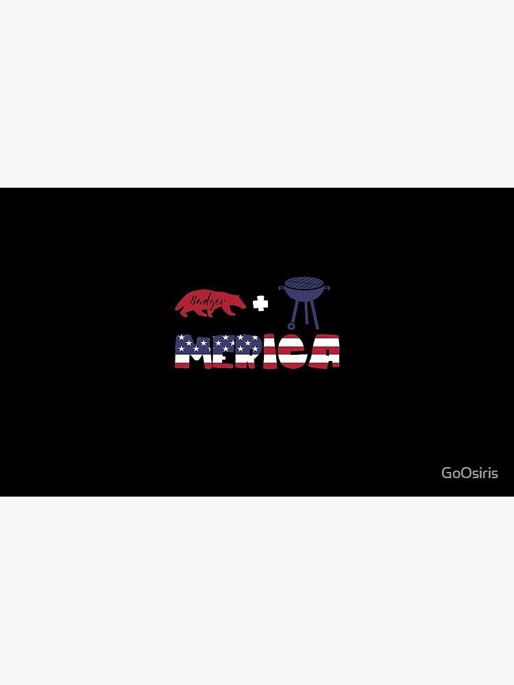 Badger plus Barbeque Merica American Flag de GoOsiris