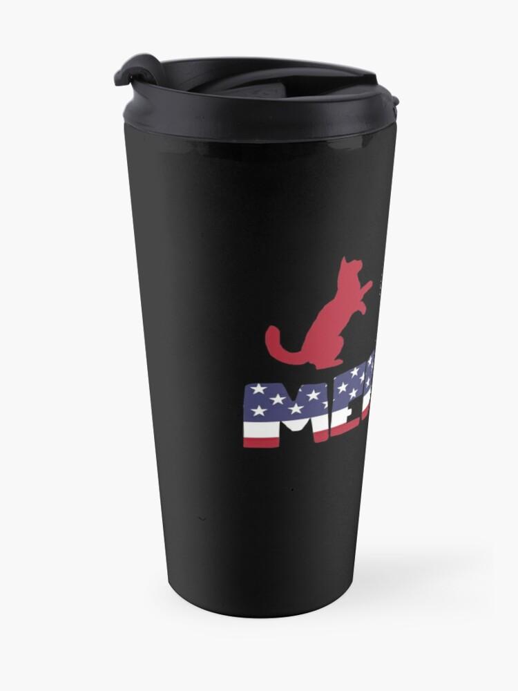 Vista alternativa de Taza de viaje Funny Cat plus Barbeque Merica American Flag