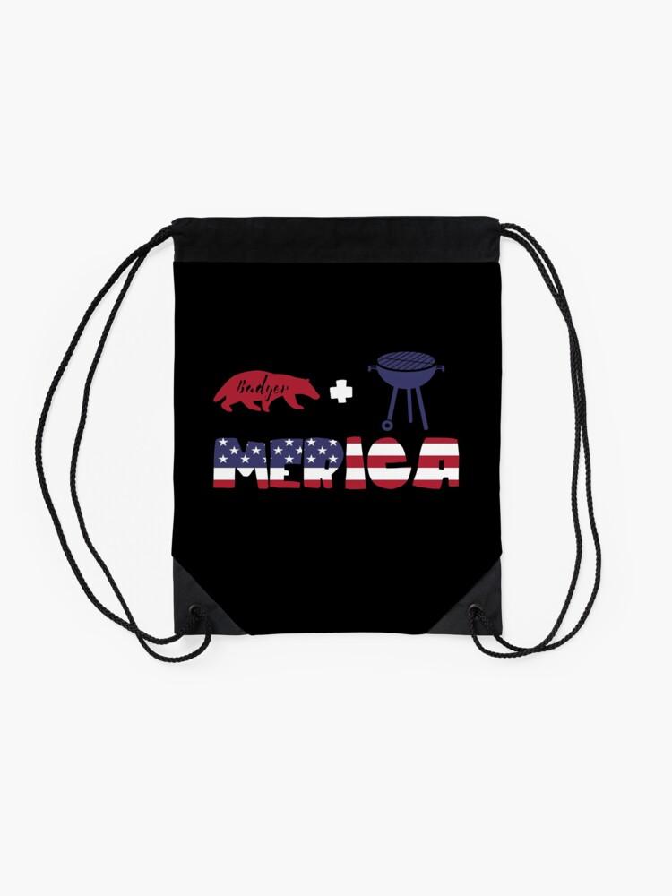Vista alternativa de Mochila saco Badger plus Barbeque Merica American Flag