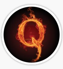 Qanon Fire Letter Q Anon Das große Erwachen des Sturms ist hier Online-Druckgeschäft Sticker