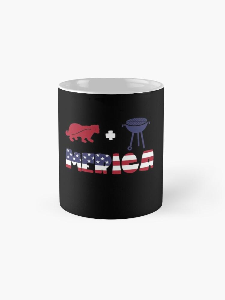 Vista alternativa de Taza Badger plus Barbeque Merica American Flag