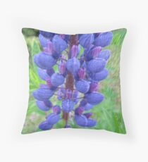 Blue Lupin  Throw Pillow