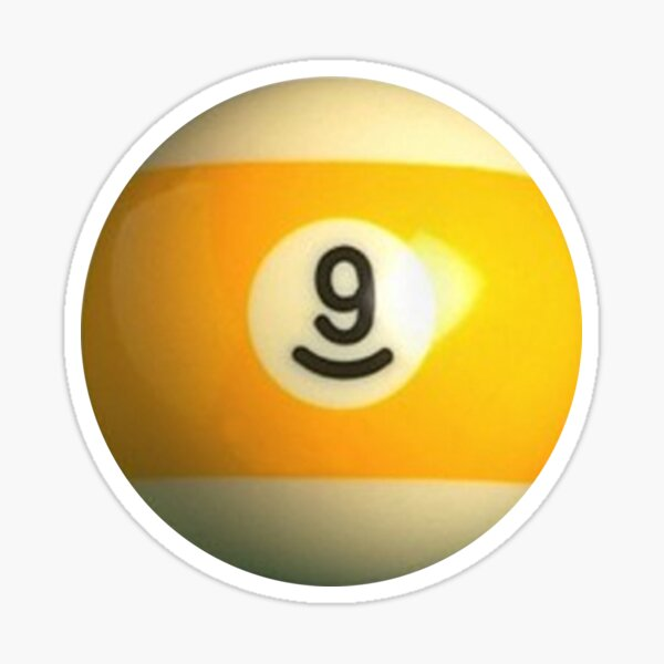 9 Ball Sticker