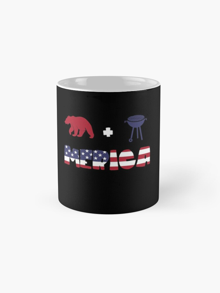 Vista alternativa de Taza Awesome Bear plus Barbeque Merica American Flag