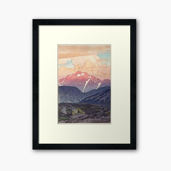 Japanese Yoshida Mountain Art Framed Art Print