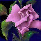 'Pink Parfait' Digital Rose Painting, Baroque Roses by luvapples downunder/ Norval Arbogast