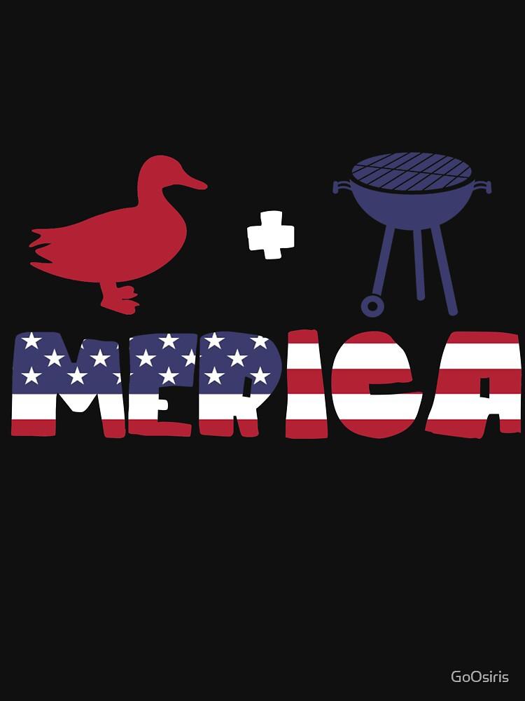 Duck plus Barbeque Merica American Flag de GoOsiris
