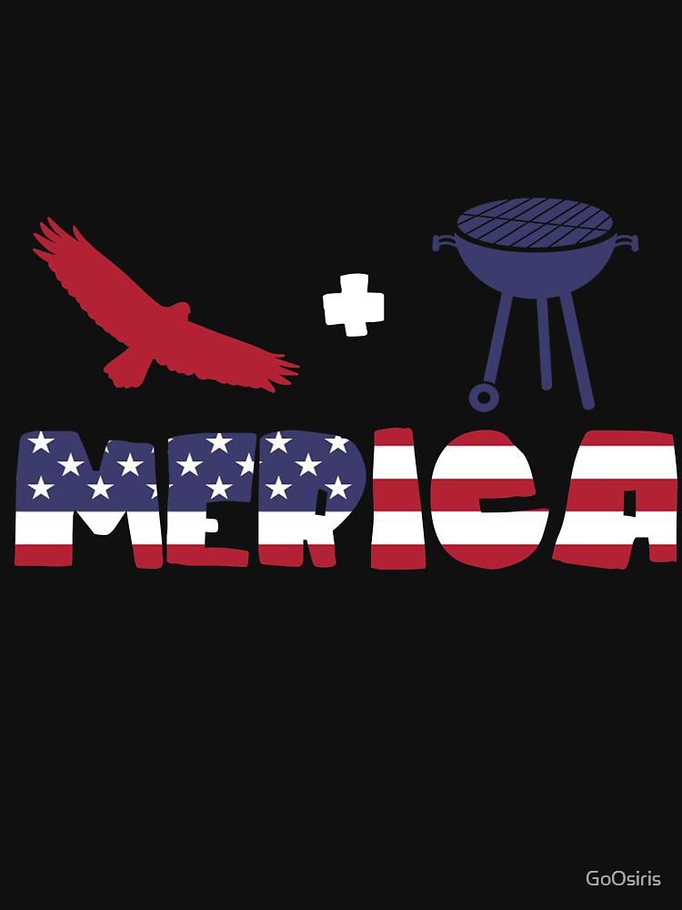 Funny Eagle plus Barbeque Merica American Flag de GoOsiris
