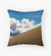 Sand Dune and Clouds Throw Pillow