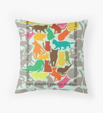 Cats Giving Advice Throw Pillow