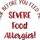 Severe Food Allergies Allergy Alert by SamAnnDesigns