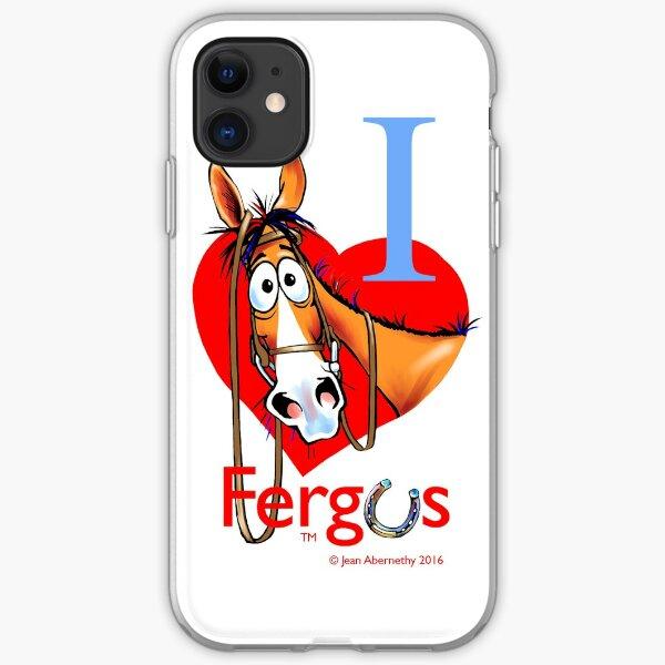 """Fergus the Horse: """"I <3 Fergus"""" iPhone Soft Case"""