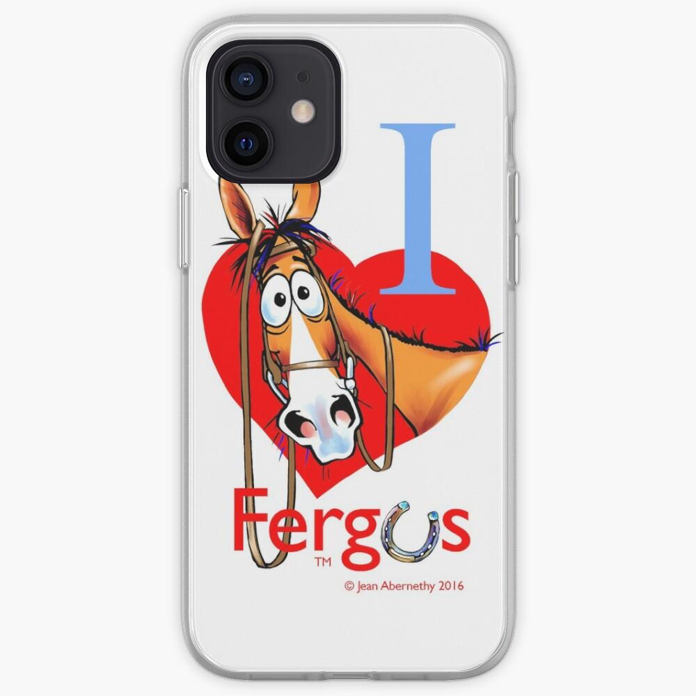 """Fergus the Horse: """"I <3 Fergus"""" iPhone Case & Cover"""