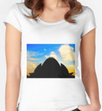 Lotus Temple  Women's Fitted Scoop T-Shirt