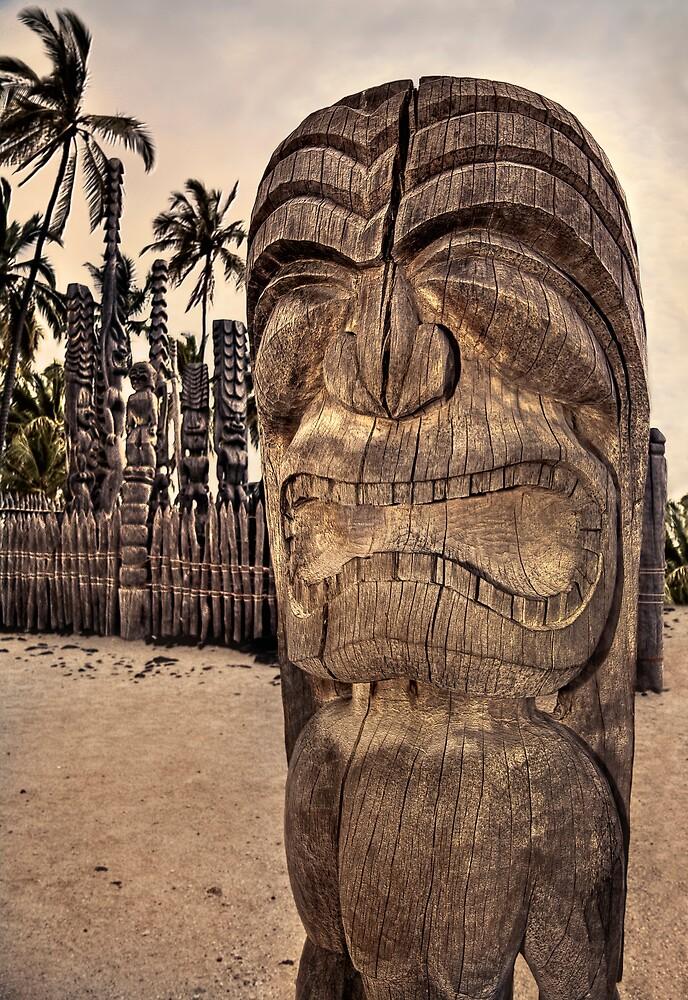 Quot Hawaiian Tiki Warrior Quot By Yves Rubin Redbubble
