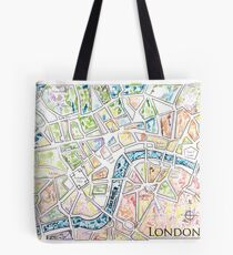 Map of London MADMAPS by Victori Vincent Tote Bag