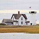 Stage Harbor Lighthouse - aka Harding's Beach Light by Linda Crockett