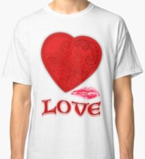 Victorian Heart with a Kisss Classic T-Shirt