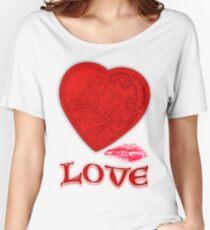 Victorian Heart with a Kisss Baggyfit T-Shirt