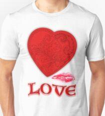 Victorian Heart with a Kisss Unisex T-Shirt