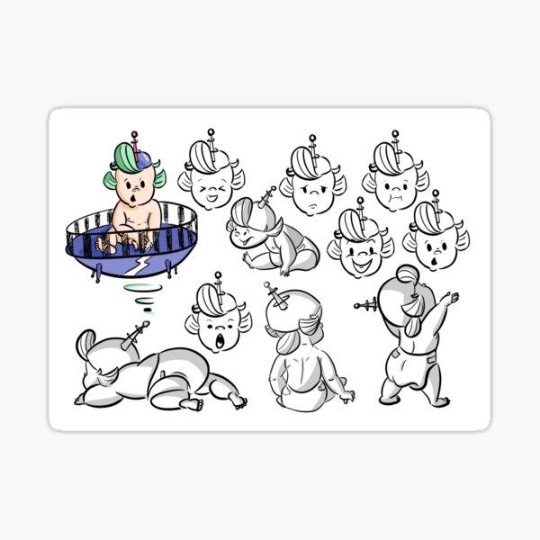 Fischer Character Design  Sticker