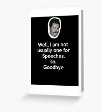 Speeches Greeting Card