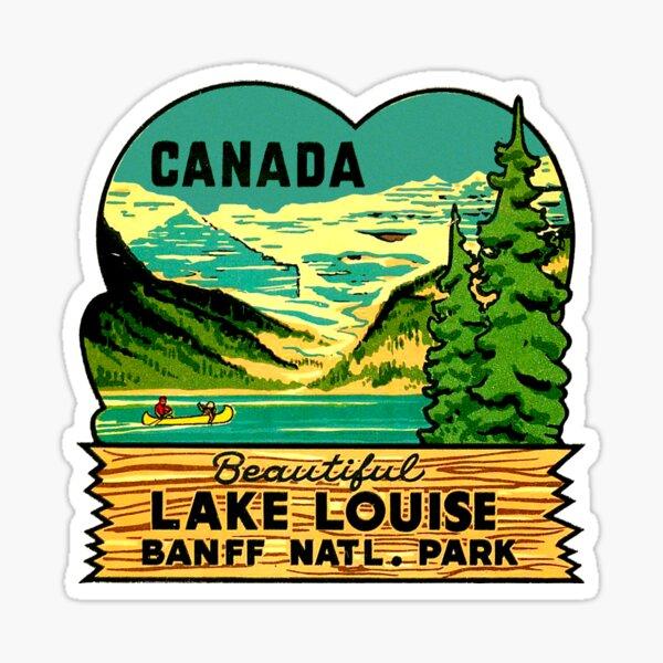 Beautiful Lake Louise Vintage Travel Decal Sticker