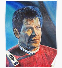 Shatner as Kirk in colored pencil  Poster