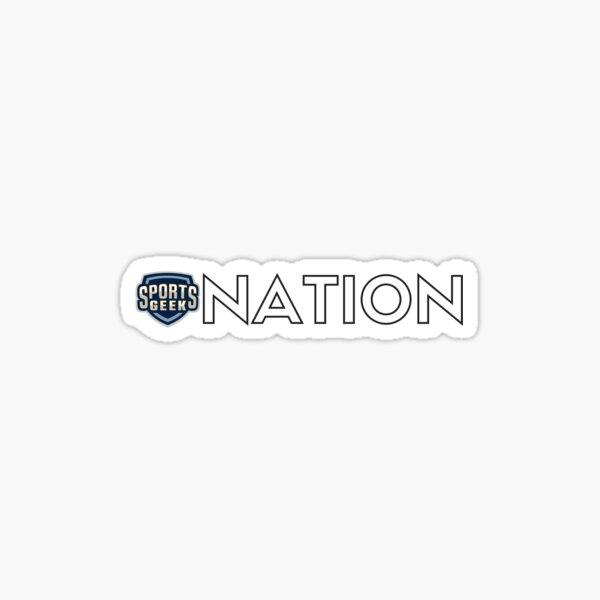 Sports Geek Nation  Sticker