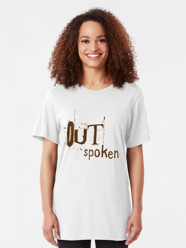 Alternate view of OUTSpoken (on light) Slim Fit T-Shirt