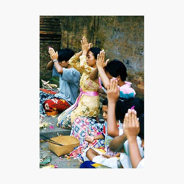Prayers & Offerings Photographic Print