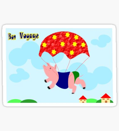 Bon Voyage -piggy is happy  (4787 Views) Sticker