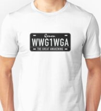 QANON: WWG1WGA - THE GREAT AWAKENING Slim Fit T-Shirt