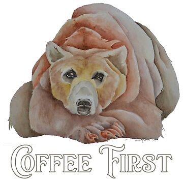 Coffee First Resting Grizzly Bear by PragmaticFalcon