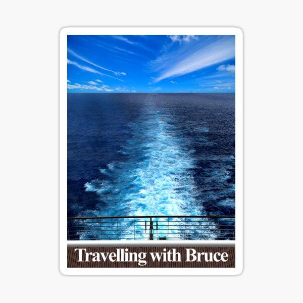 Travelling with Bruce Wake Logo Sticker