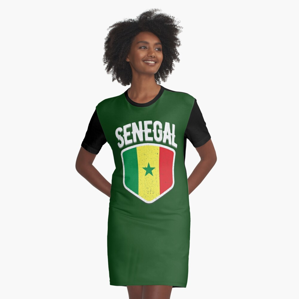 12e3e9fc134 2018 Senegal World Flag Football T Shirt Soccer Jersey Cup T-Shirt ...