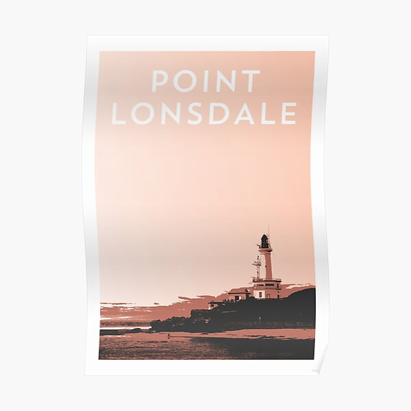 Point Lonsdale Travel Poster Poster