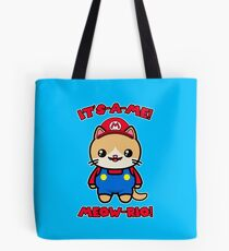 Cute Cat Funny Kawaii Mario Parody Tote Bag